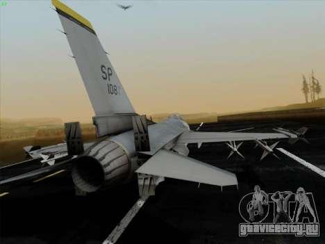 F-16C Warwolf для GTA San Andreas вид сзади слева