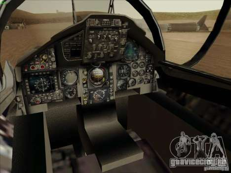 F-15 SMTD для GTA San Andreas вид изнутри