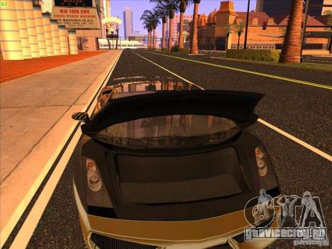 Lamborghini Gallardo Underground Racing для GTA San Andreas вид сверху