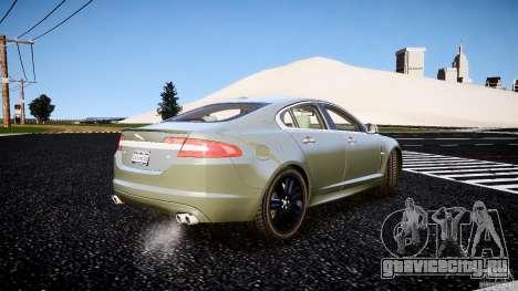 Jaguar XFR 2010 для GTA 4 вид сзади слева