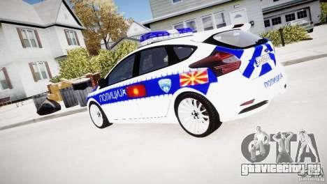 Ford Focus Macedonian Police для GTA 4 вид слева