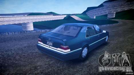 Mercedes Benz SL600 W140 1998 higher Performance для GTA 4 вид изнутри
