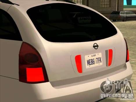 Nissan Primera Wagon для GTA San Andreas вид справа