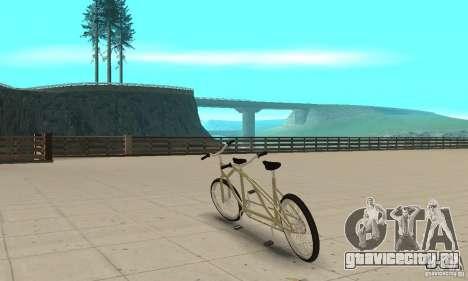 double classic MT Bike для GTA San Andreas вид сзади слева