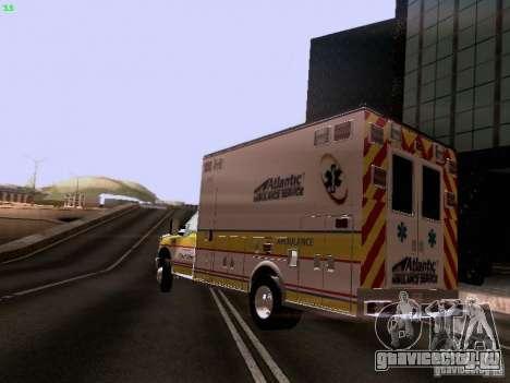 Ford F-350 Ambulance для GTA San Andreas вид слева