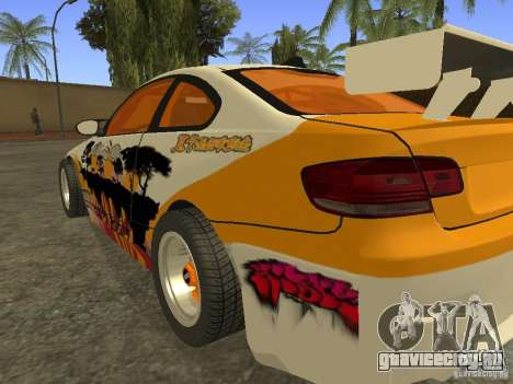 BMW M3 E92 DriftRoots для GTA San Andreas вид слева