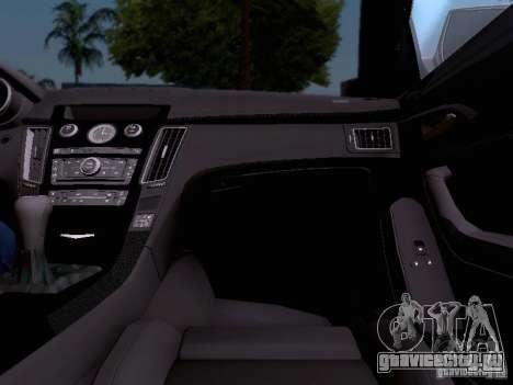 Cadillac CTS-V 2009 для GTA San Andreas салон