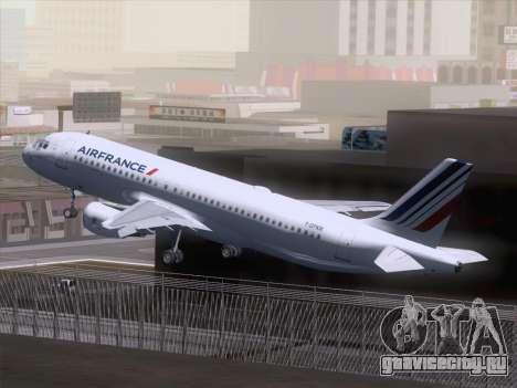 Airbus A320-211 Air France для GTA San Andreas вид изнутри