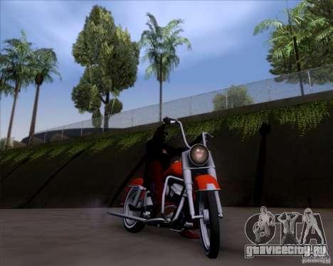 Harley-Davidson FL Duo Glide 1961 (Lowrider) для GTA San Andreas вид изнутри