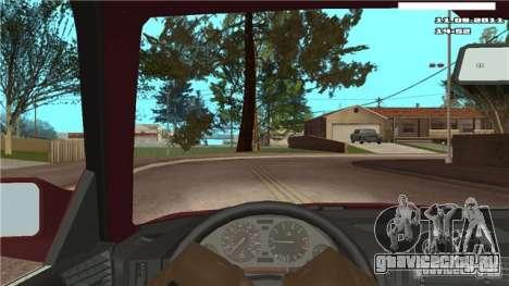Камера от первого лица в авто для GTA San Andreas