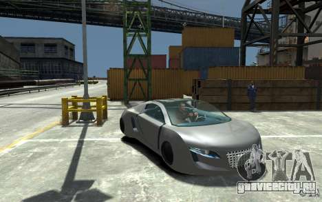 Audi RSQ Concept для GTA 4 вид сзади