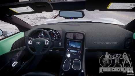 Chevrolet Corvette Grand Sport 2010 v2.0 для GTA 4 вид снизу