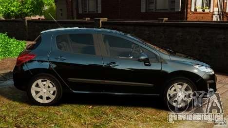Peugeot 308 2007 для GTA 4 вид слева
