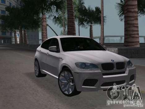 BMW X6M для GTA Vice City вид справа