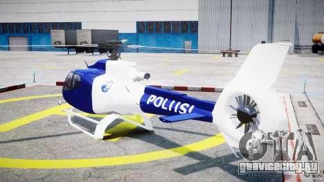 Eurocopter EC 130 Finnish Police для GTA 4 вид сзади слева