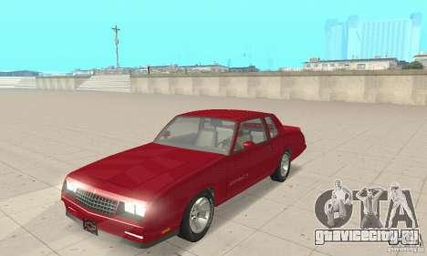 Chevrolet Monte Carlo SS 1986 для GTA San Andreas