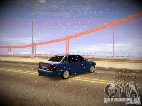 Lada Priora Turbo v2.0 для GTA San Andreas вид сзади