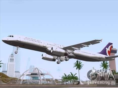 Airbus A321 Air Macau для GTA San Andreas двигатель