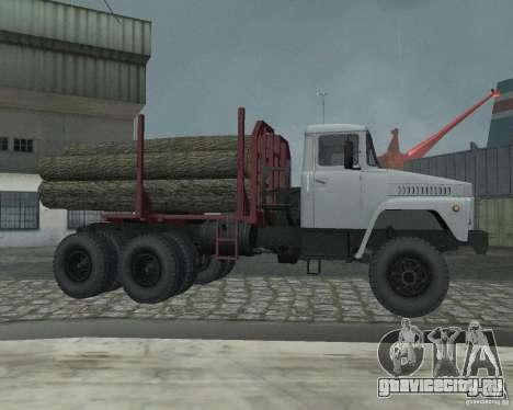 КрАЗ-255 Лесовоз для GTA San Andreas вид сзади