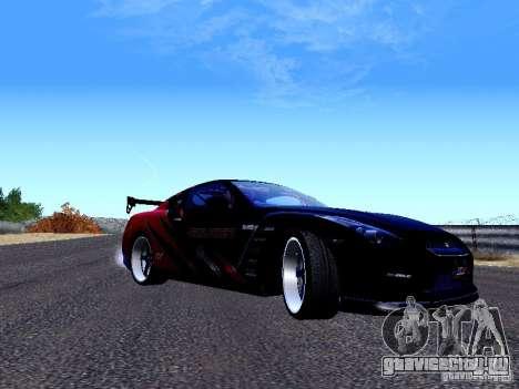 Nissan Skyline R35 Drift Tune для GTA San Andreas вид слева