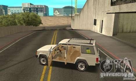 Jeep Grand Cherokee 1986 для GTA San Andreas салон