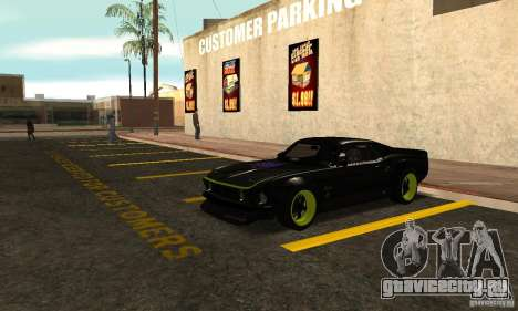 Ford Mustang из NFS Shift 2 для GTA San Andreas вид слева