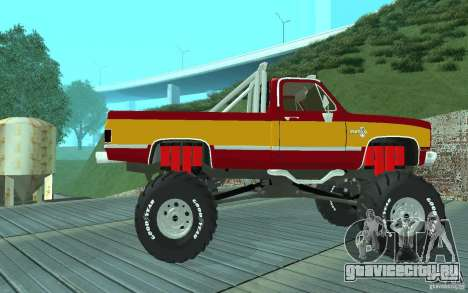 Chevrolet Silverado 2500 MonsterTruck 1986 для GTA San Andreas вид сзади слева