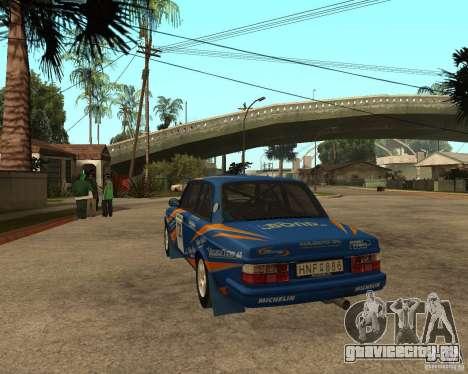 Volvo 242 Lightspeed Rally Edition для GTA San Andreas вид сзади слева