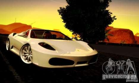 Ferrari F430 Spider для GTA San Andreas вид сзади слева