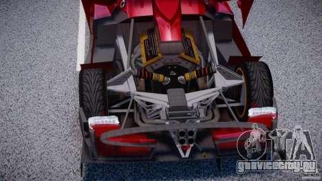 Pagani Zonda R для GTA 4 вид сзади