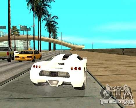 Koenigsegg CCRT для GTA San Andreas вид сзади слева