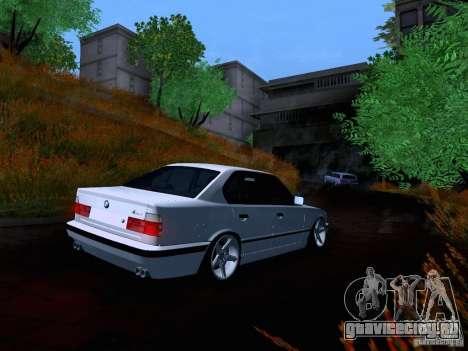 BMW M5 E34 Stance для GTA San Andreas вид сзади