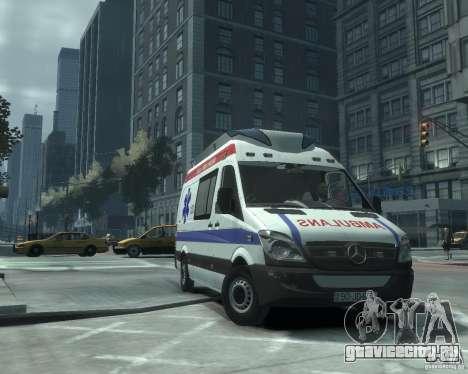 Mercedes-Benz Sprinter Azerbaijan Ambulance v0.1 для GTA 4 вид слева