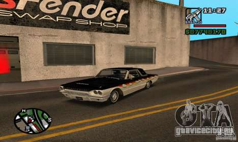 Ford Thunderbird 1964 для GTA San Andreas вид сбоку