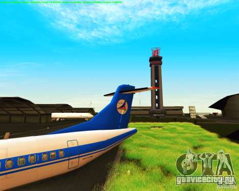 ATR 72-500 Azerbaijan Airlines для GTA San Andreas вид сзади