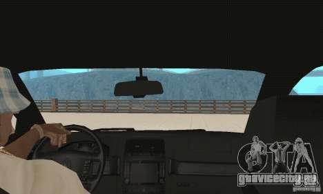 Volkswagen Touareg 2008 для GTA San Andreas вид изнутри