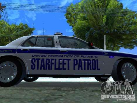 Ford Crown Victoria Police Interceptor 2008 для GTA San Andreas вид изнутри