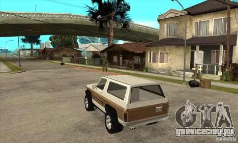 Ford Ranger для GTA San Andreas вид сзади слева