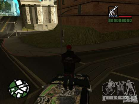 Новый винил для Cултана для GTA San Andreas вид справа