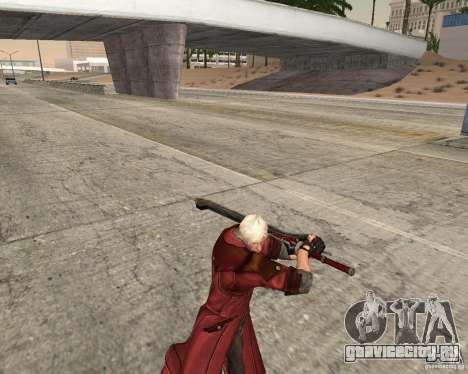 Nero sword from Devil May Cry 4 для GTA San Andreas третий скриншот
