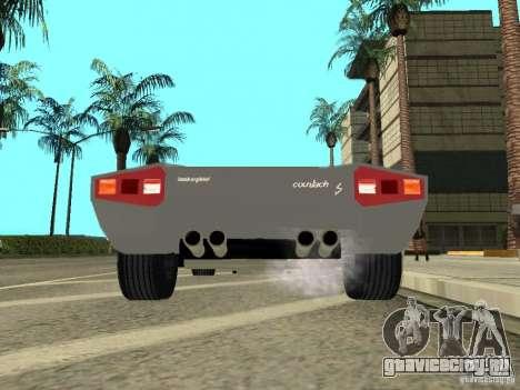 Lamborghini Countach LP400 для GTA San Andreas вид сзади