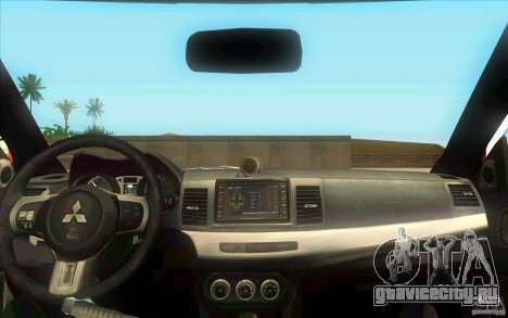 Mitsubishi Lancer Evolution X MR1 для GTA San Andreas вид справа
