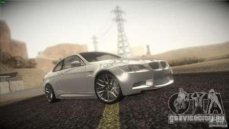 BMW M3 E92 для GTA San Andreas вид изнутри