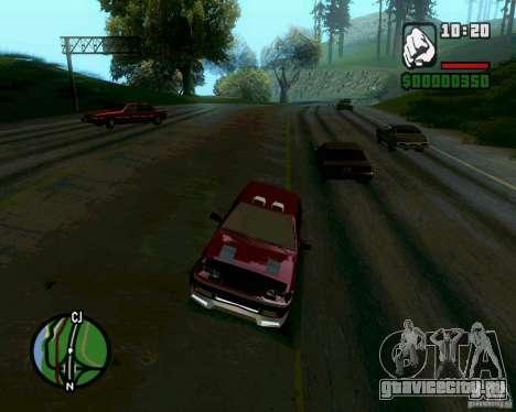 Ваз 21099 NFS Tuning для GTA San Andreas вид слева