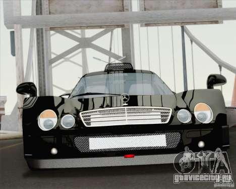 Mercedes-Benz CLK GTR Race Road Version Stock для GTA San Andreas вид изнутри