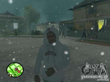 Снегопад для GTA San Andreas четвёртый скриншот