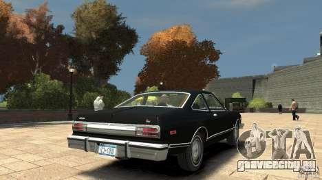 Plymouth Volare Coupe 1977 для GTA 4 вид справа