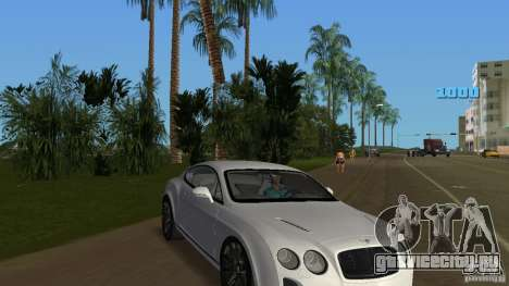 Bentley Continental Supersport для GTA Vice City вид сзади