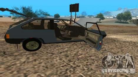 ВАЗ 2108 для GTA San Andreas вид снизу