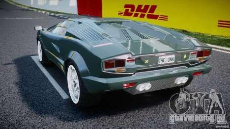 Lamborghini Countach v1.1 для GTA 4 вид сзади слева